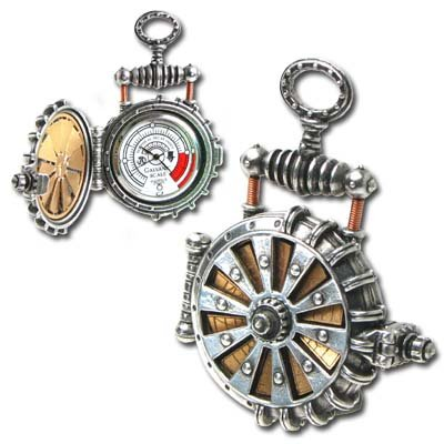 Alchemy Empire: Steampunk EER Solar Powered Turbine Fob Watch