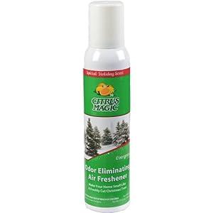 Citrus Magic Holiday Fragrance Odor Eliminating Air Freshener Spray, Evergreen, 3.5-Ounce