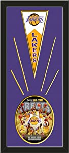 Los Angeles Lakers Wool Felt Mini Pennant & Los Angeles Lakers All Time Greats... by Art and More, Davenport, IA