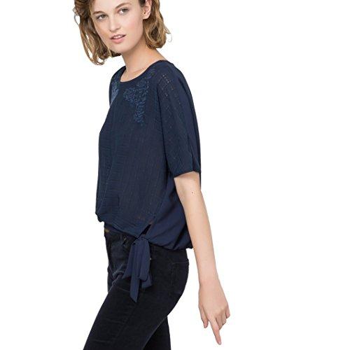 Vero Moda Donna Camicetta Cropped Flowerish Taglia 2 Blu