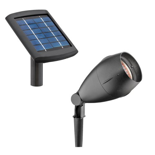 Malibu Solar Cast Aluminum Flood Light And Remote Panel With 12 High Power Wh