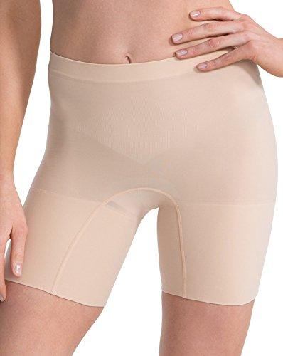 lujo-spanx-adelgazante-para-mujer-ligero-y-sin-costuras-de-corto-muy-suave-negro-o-nude-beige-soft-n