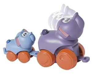 Hasbro Playskool Animalitos blanditos en familia Elefante - Elefante y bebé elefante de plástico con ruedas