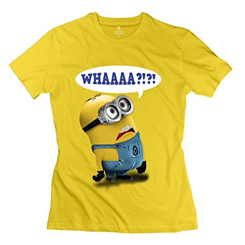 Ymgg Womens T Shirt Surprised Minion Whaaaa Yellow