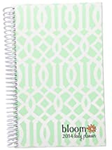 2014 bloom Calendar Year Daily Day Planner Fashion Organizer Agenda January 2014 Through December 2014 Mint Trellis