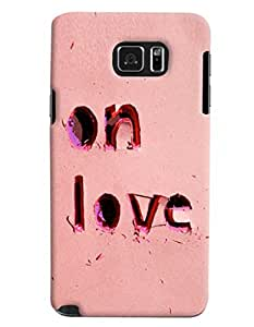 Blue Throat On Love Printed Designer Back Cover For Samsung Galaxy Note 5