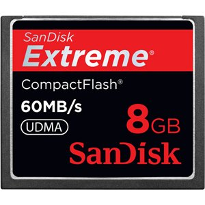 Cheapest Price! Sandisk 8GB Extreme CF memory card - UDMA 60MB/s 400x (SDCFX-008G-A61, Retail Packag...