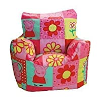 Peppa Pig Bean Bag Chair - Peppa Polka Design