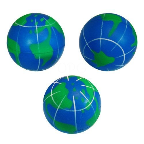 Lot Of 12 World Globe Earth Design Stress Balls