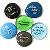 Recovery Glass Stones, Set II, Set of 6