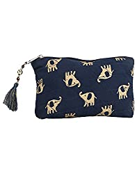 Needlecrest Women's Casual Pouch (Blue Color)
