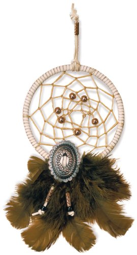 Leather Factory Native Heritage 5-Inch Diameter Dream Catcher Kits, Copper Sky