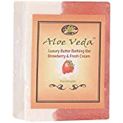 Aloe Veda Luxury Butter Bar - Strawberry And Cream, 100g
