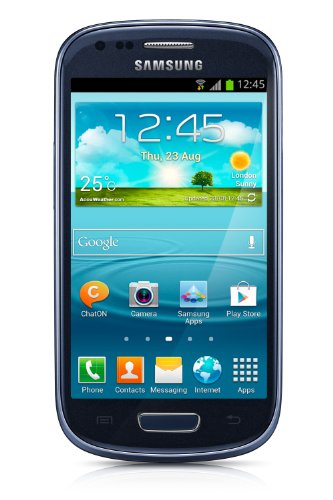 Samsung Galaxy S3 Mini GT-i8200 Unlocked Cellphone, International Version, Retail Packaging, Blue (Blue Samsung Galaxy S3 compare prices)