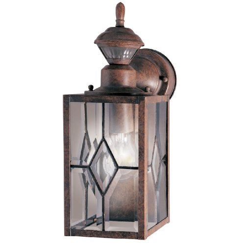 Heath Zenith HZ-4151-BR1 Mission Style 150-Degree Motion Sensing Decorative Security Light, Rustic Brown (Mission Outdoor Wall Light compare prices)