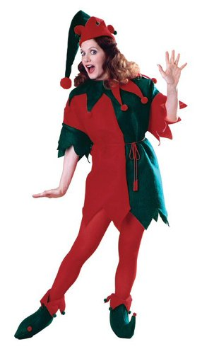 Elf Tunic Christmas Adult Costume with Shoes