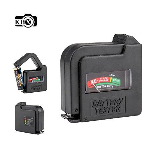 Klix Universal Battery Volt Tester AA AAA C D 9V Button Cell c