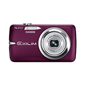 Casio EX-Z550 14.1MP Digital Camera with 4x Wide Angle Zoom with CCD Shift Image Stabilization and 2.7 inch LCD (Red)