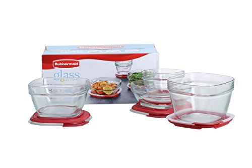 Rubbermaid Easy Find Lid Food Storage Container, Glass, 8-Piece Set