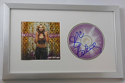 Britney Spears Oops!..I Did It Again Signed Autographed Music Cd Framed Display Loa