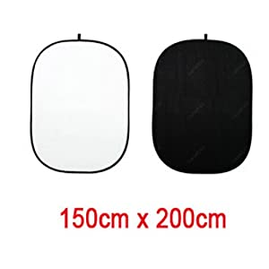 Leinox Collapsible Background 150x200cm (Black&White)