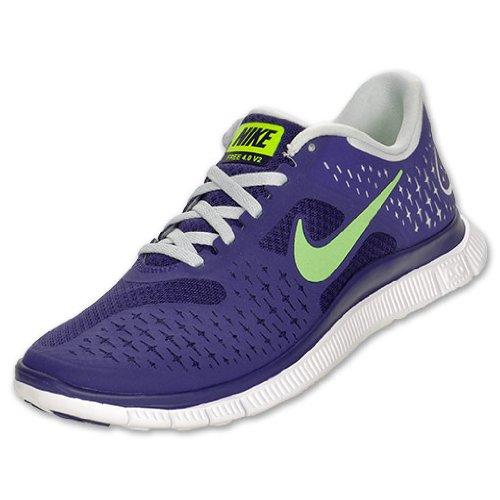 nike free run 4 NIKE Free Run 4 0 V2 Women s Running Shoes Night Blue Volt Pure ...
