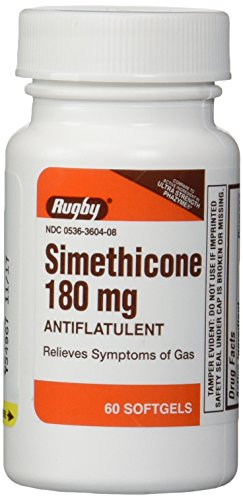 Simethicone 180mg Softgels Anti-Gas Generic for Phazyme Ultra Strength 6 PACK of 60 Softgels, Total 360 Softgels. (Gas X Softgels compare prices)