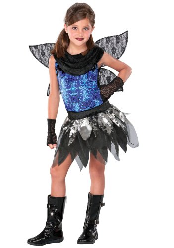 Seasons Punky Twilight Fairy Girls 3pc Kids Costume Black|Blue