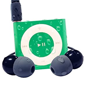 Waterfi 100% Waterproof iPod Shuffle Swim Kit with Dual Layer Waterproof/Shockproof Protection (Green)