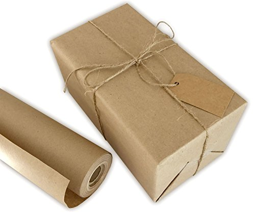 Kraft Wrapping Paper Roll (Brown/Natural), 30