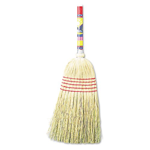 UNISAN Maid Broom, Mixed Fiber Bristles, 42″ Wood Handle, Natural – Includes one dozen.
