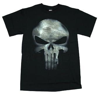Marvel The Punisher Men's No Sweat T-Shirt, Black, X-Large
