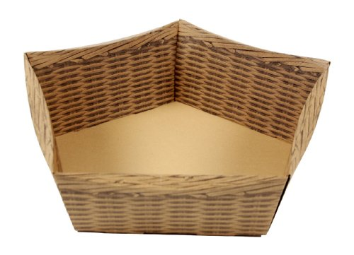 Boucle en carton ondulé Panier cadeau pour Pâques XL Lot de 10