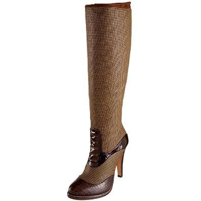 Etro Women's 3659 High Boot,Pelle Stamp Quadratino,39 M EU / 9 B(M)