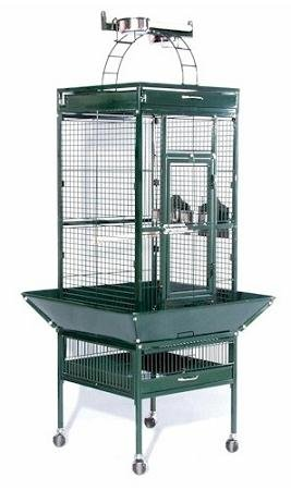 Image of Bird Supplies Small Wrought Iron Select Bird Cage - Jade Green (PP-3151GRN)