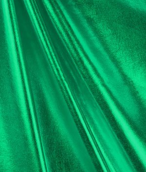 Kelly Green Foil Metallic Spandex Fabric - By the Yard (Online Costume Stores)