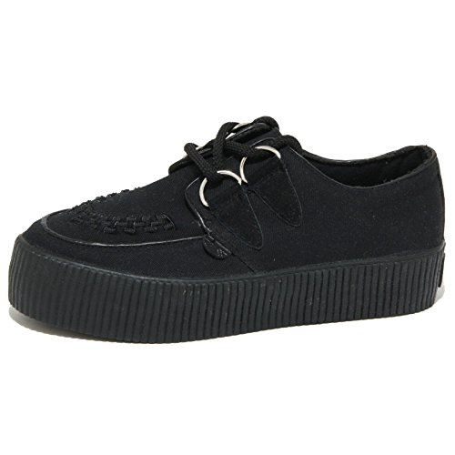 0585O scarpa UNDERGROUND HOXTON CREEPER nero scarpe donna shoes women [39 EU-5.5 UK]
