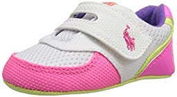 Ralph Lauren Layette Propel Athletic with Velcro (Infant/Toddler), Pink/White, 4 M US Toddler