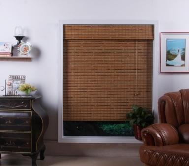 Bali Natural Bamboo Roman Shade - Free Shipping, 70x74