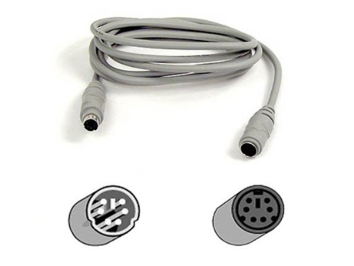 New BELKIN COMPONENTS PS/2 Mouse And Keyboard Extension Cable 6 Pin PS/2 F 6 Pin PS/2 M 10 Ft
