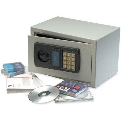 Gary HS1207 - Personal Safe, .3ft3, 12-1/4w x 7-3/4d x 7-3/4h, Light Gray-FIRHS1207