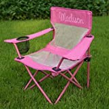 Personalized Camping Chair-Pink, Font: Script, Font Color: Pink