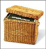 Decorative Hanging File Boxes - Wicker File Box