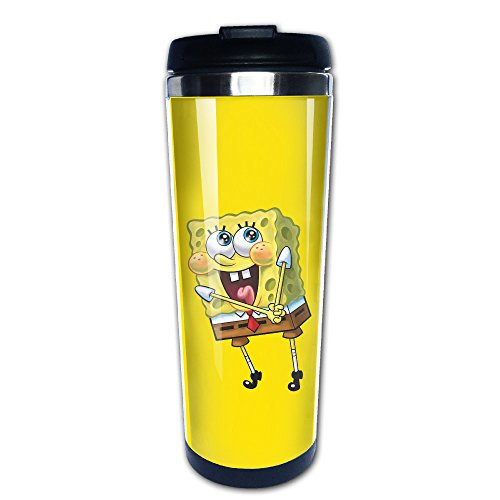 Funny Spongebob Cute Smile Insulated Thermal Coffe Mugs/Travel Mugs/Vacuum Cup (Spongebob Coffee Cup compare prices)