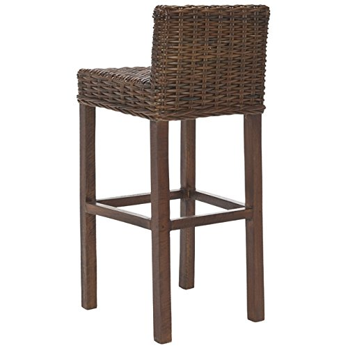 Safavieh Home Collection Cypress Cappuccino Wicker 30-inch Bar Stool