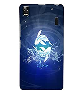 ColourCraft Zodiac Pisces Design Back Case Cover for LENOVO A7000 TURBO