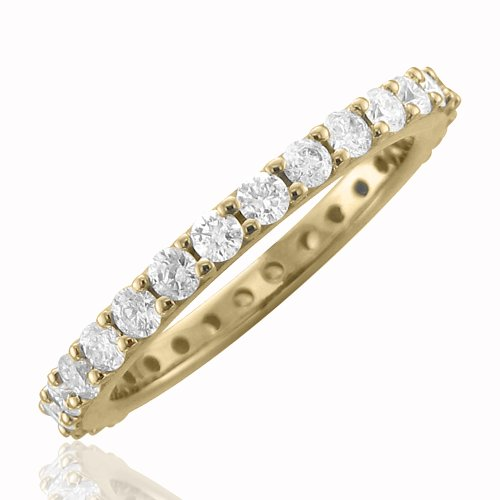 14k Yellow Gold Diamond Eternity Band (GH I1-I2 1.00 carat)