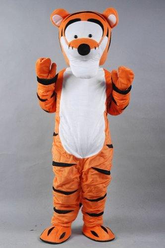 Warmcos Winnie the Pooh Tigger Mascot Costume Cartoon Character Fancy Dress Outfit