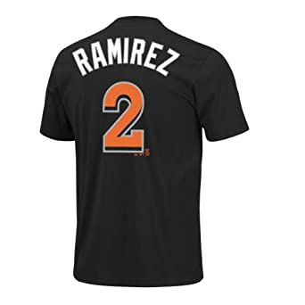 Miami Marlins Hanley Ramirez Name and Number T-Shirt by Majestic