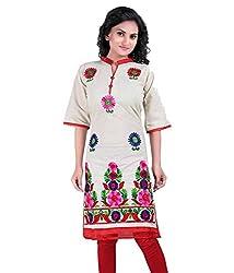 Shubh Women's Cotton Kurti (Shubh_110_Multi-Coloured_Free Size)
